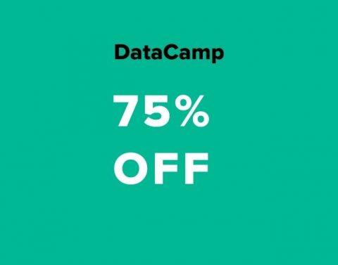 datacamp 75% off coupon